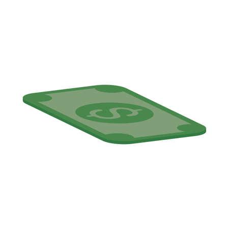bill money dollar isolated icon vector illustration design Vectores