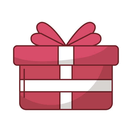 gift box present with heart love vector illustration design Vettoriali