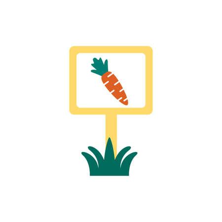 fresh carrot vegetable in banner flat style vector illustration design