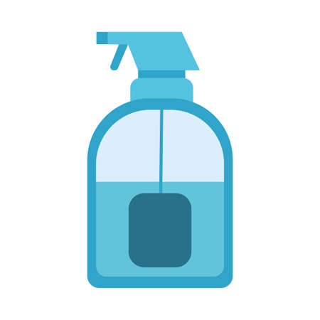 spray bottle icon design, Cleaning service wash home hygiene equipment domestic interior housework and housekeeping theme Vector illustration