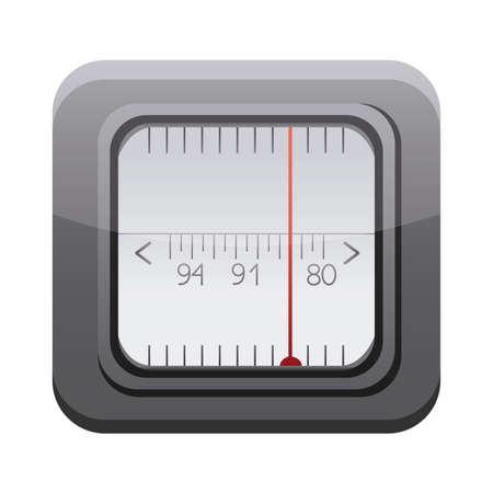 radio app button menu isolated icon vector illustration design Ilustracja