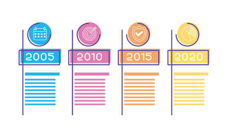 business infographic with years icons vector illustration 일러스트