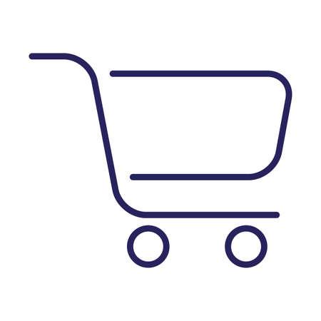 shopping cart commerce isolated icon vector illustration design Ilustracja