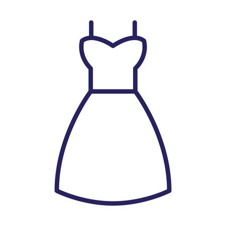 female dress clothes isolated icon vector illustration design Çizim
