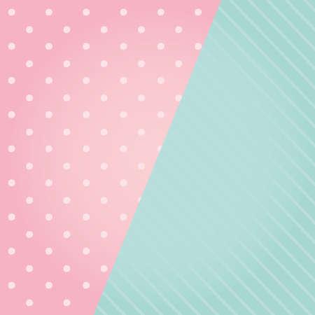 pink color and dotted background decorative vector illustration design