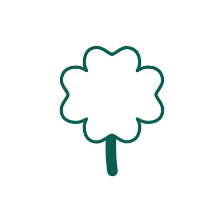 saint patricks day clover leaf line style vector illustration design