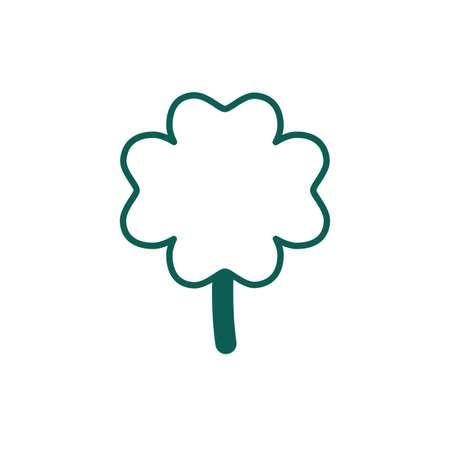 saint patricks day clover leaf line style vector illustration design Foto de archivo - 151153349