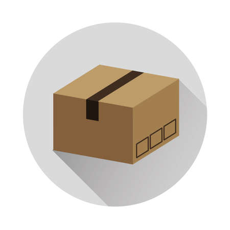 box carton delivery service isolated icon vector illustration design 일러스트