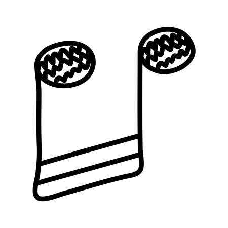 music note line style icon vector illustration design Ilustração