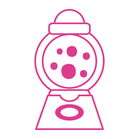candies dispenser machine isolated icon vector illustration design