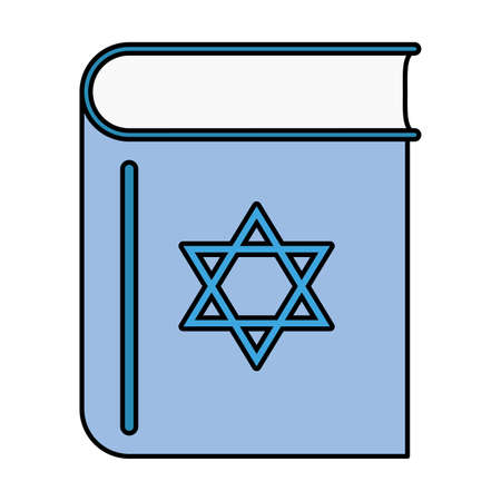 happy hanukkah koran book icon vector illustration design