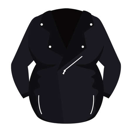 motorcycle jacket wear isolated icon vector illustration design Vector Illustratie
