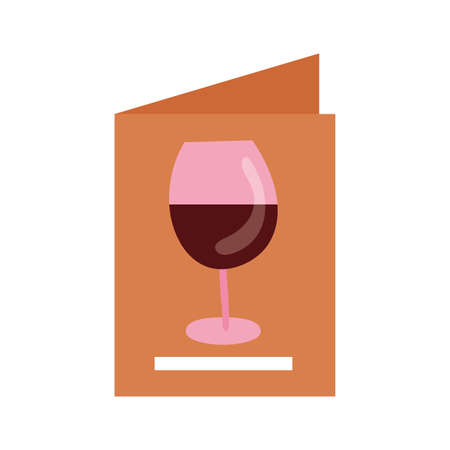 wine cup drink in card menu vector illustration design
