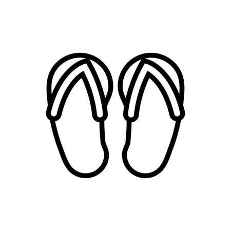flips flops spa line style vector illustration design Ilustración de vector