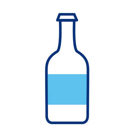 wine bottle line style icon vector illustration design Illustration
