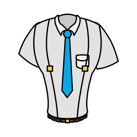 elegant shirt masculine with necktie and loaders vector illustration design Vecteurs