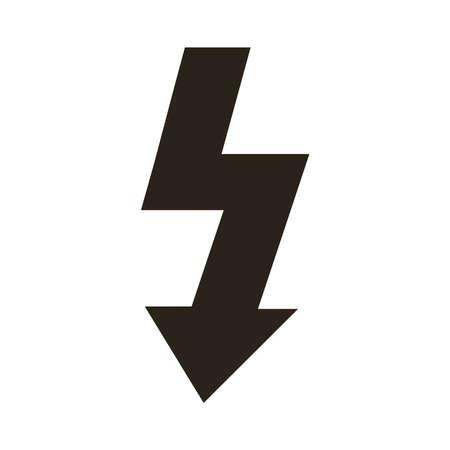 arrow down silhouette style icon vector illustration design 向量圖像