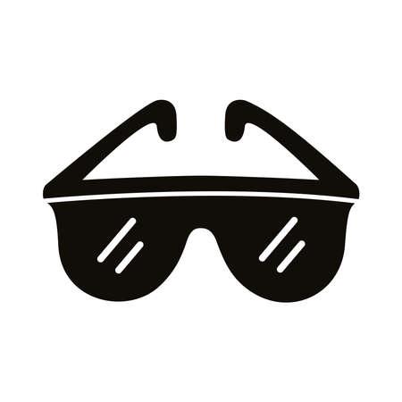 goggles sport accessory silhouette style icon illustration design