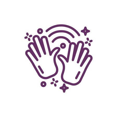 hands with stars splash magic sorcery illustration design