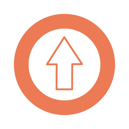 arrow upload block style icon vector illustration design 向量圖像