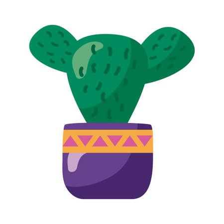 cactus mexican plant details style icon illustration design