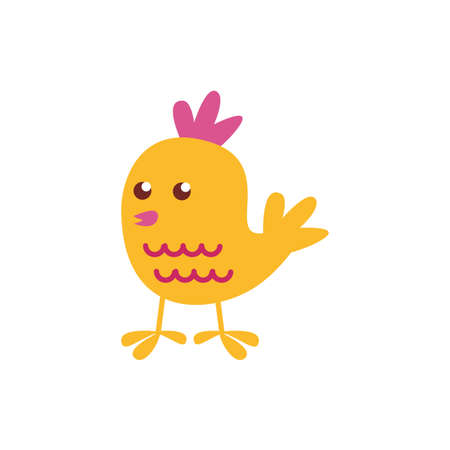cute little chick easter flat style icon illustration design