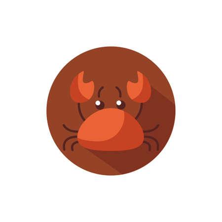 crab sea animal block style icon vector illustration design Vectores