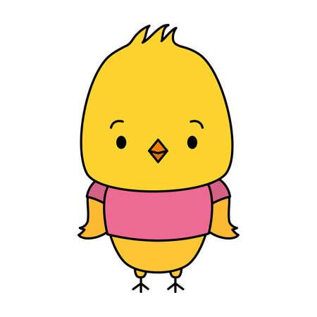 cute chicken animal cartoon vector illustration design 免版税图像 - 151285848