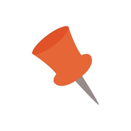 paper note pin flat style icon vector illustration design Иллюстрация