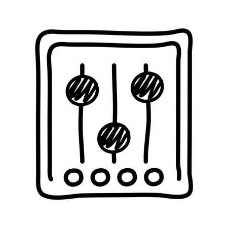 musical console control line style icon vector illustration design