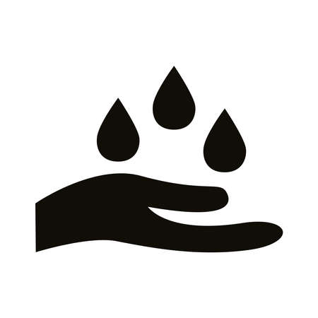 hand clean silhouette style icon vector illustration design