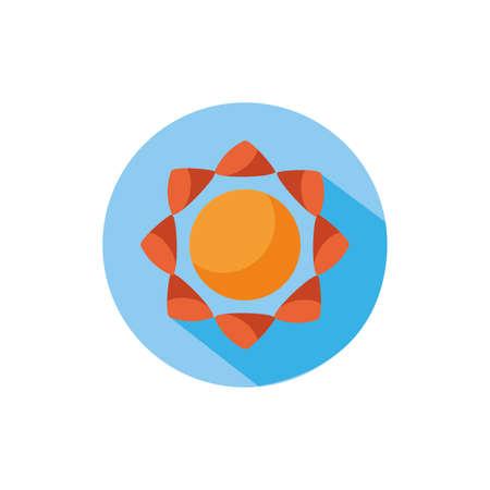 sun summer block style icon vector illustration design 向量圖像
