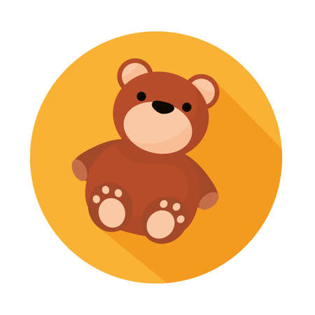 bear teddy child toy isolated style icon vector illustration design