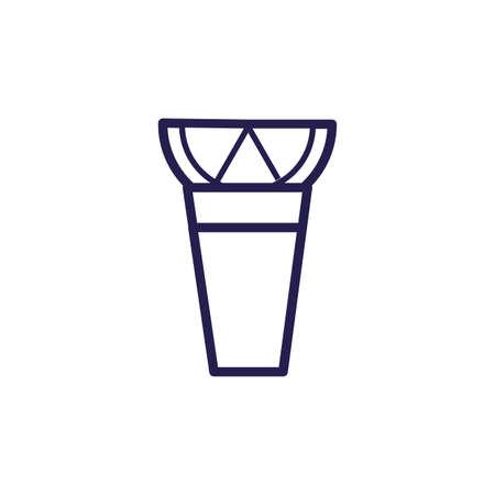 bongo musical instrument fill style icon vector illustration design Illustration