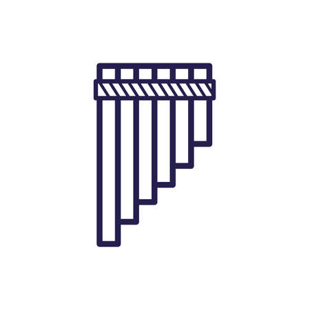 flute musical instrument fill style icon vector illustration design Illustration