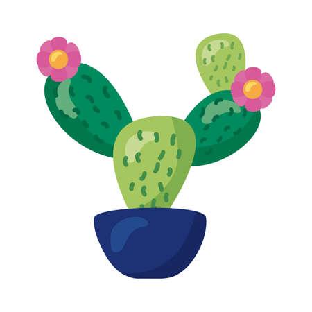 cactus mexican plant detaild style icon vector illustration design Ilustrace