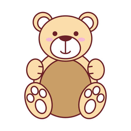 Teddy bear design of Childhood play fun kid game gift object little and present theme Vector illustration 向量圖像