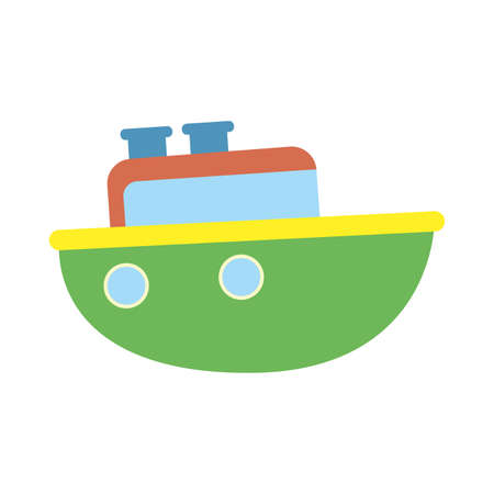 ship design, Toy childhood play fun game gift object present and adorable theme Vector illustration 向量圖像