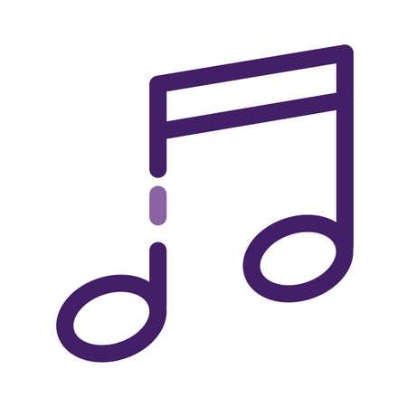 music note sound isolated icon vector illustration design Illustration