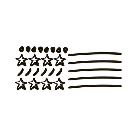 stars with points and lines creative design with brush stroke silhouette style vector illustration design