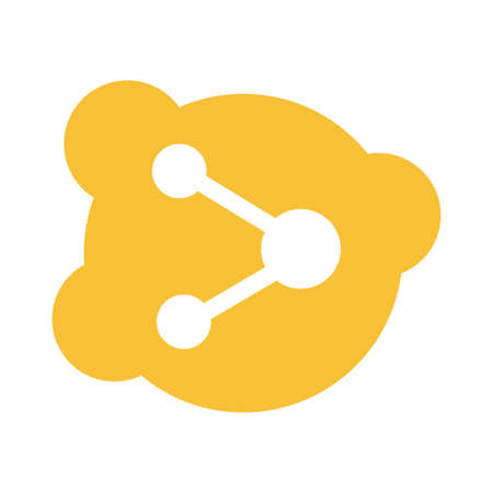 share symbol social media block style icon vector illustration design
