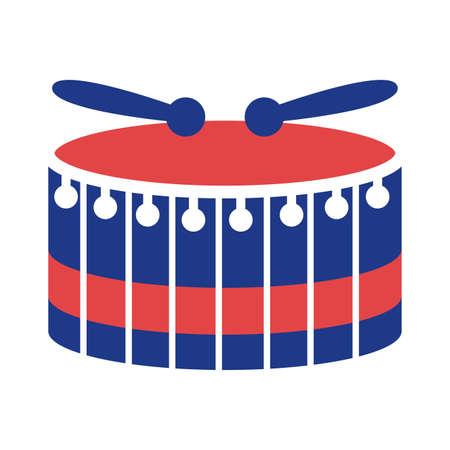 drum instrument silhouette style icon vector illustration design