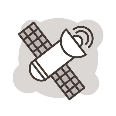 space satellite line style icon vector illustration design Ilustrace
