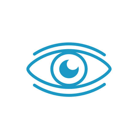 eye human organ line style icon vector illustration design