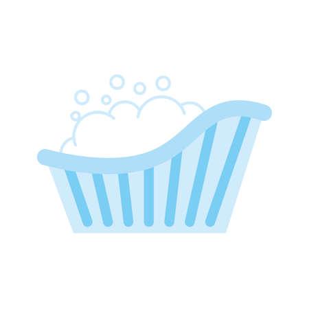 cute baby bathtube accessory icon vector illustration design Ilustrace