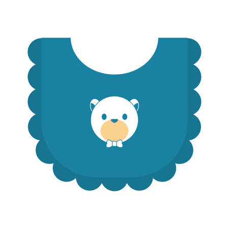 baby bib accessory isolated icon vector illustration design Ilustrace