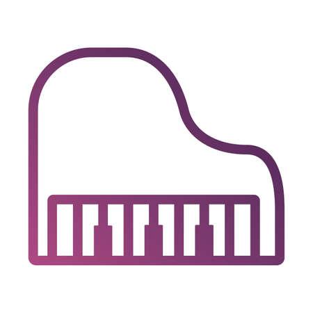 piano musical instrument line degradient style icon vector illustration design Ilustrace