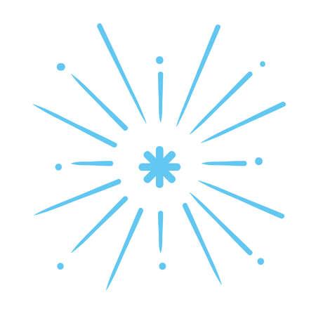 blue fireworks celebration on white background vector illustration design Vettoriali