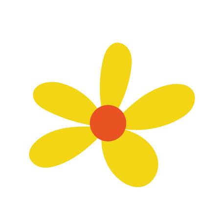 beautiful flower garden decorative icon vector illustration design