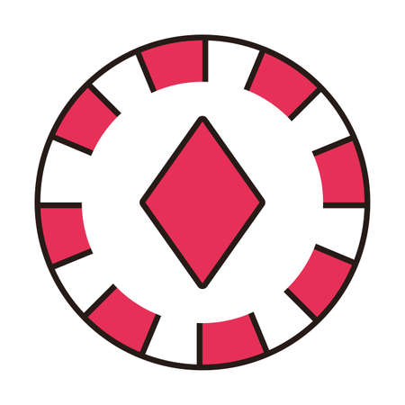 casino chip with diamond isolated icon vector illustration design